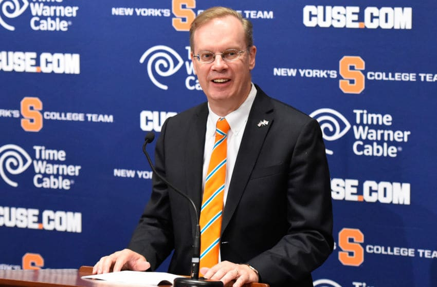 Syracuse University Chancellor Kent Syverud (Photo by Rich Barnes/Getty Images)