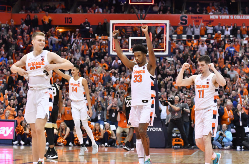Elijah Hughes, Syracuse basketball (Mandatory Credit: Mark Konezny-USA TODAY Sports)