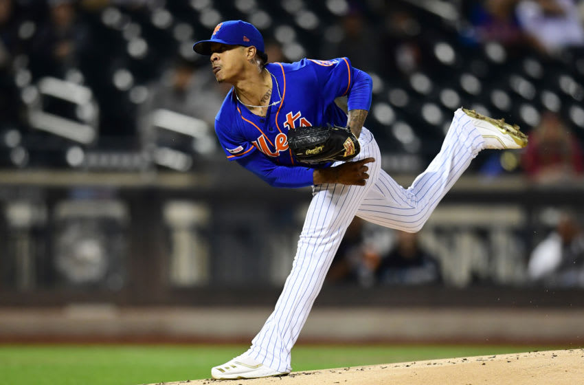 NEW YORK, NEW YORK - SEPTEMBER 27: Marcus Stroman #7 of the New York Mets delivers a pitch in the first inning of their game against the Atlanta Braves at Citi Field on September 27, 2019 in the Flushing neighborhood of the Queens borough of New York City. (Photo by Emilee Chinn/Getty Images)