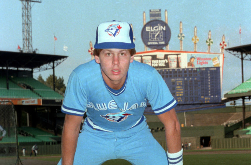 CHICAGO-UNDATED 1981: Danny Ainge of the Toronto Blue Jay poses before a MLB game at Comiskey Park in Chicago, IL. Ainge played for the Toronto Blue Jays from 1979-1981. (Photo by Ron Vesely/MLB Photos via Getty Images)