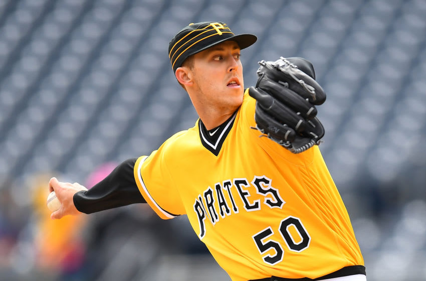 PITTSBURGH, PA - APRIL 08: Jameson Taillon #50 of the Pittsburgh Pirates pitches during the game against the Cincinnati Reds at PNC Park on April 8, 2018 in Pittsburgh, Pennsylvania. (Photo by Joe Sargent/Getty Images)