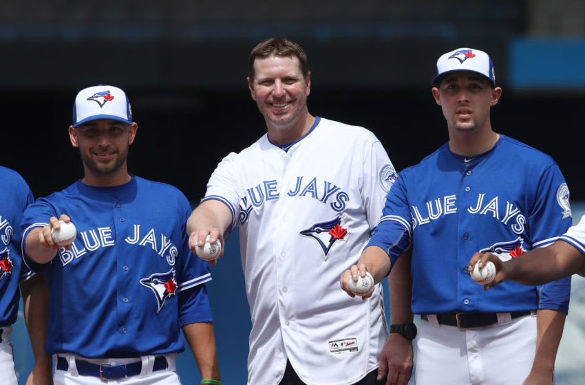 TORONTO, CANADA - AUGUST 14: Former player Roy Halladay