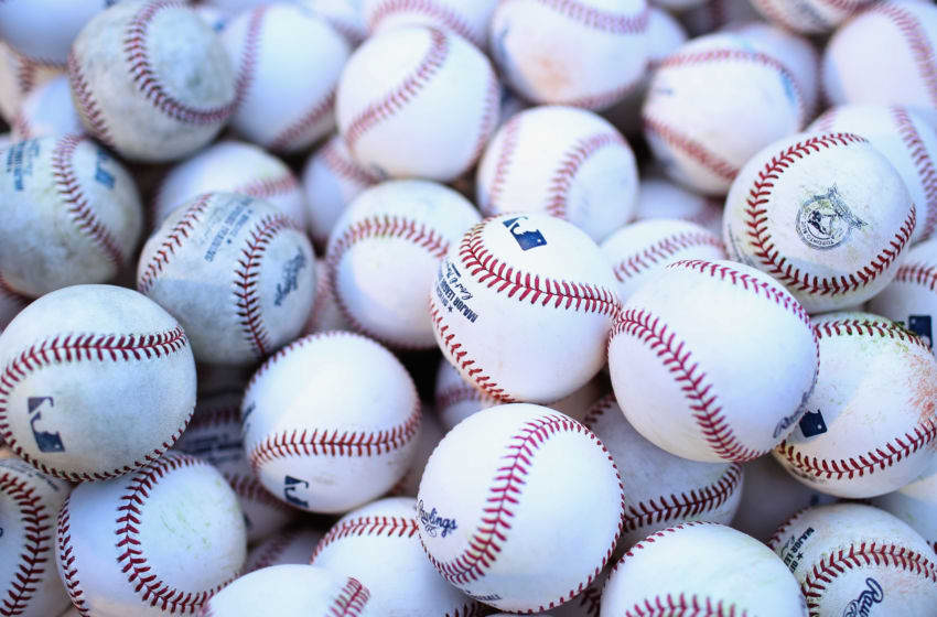 BALTIMORE, MD - APRIL 20: Baseballs sit in a basket before the start of the Baltimore Orioles and Toronto Blue Jays game at Oriole Park at Camden Yards on April 20, 2016 in Baltimore, Maryland. (Photo by Rob Carr/Getty Images)