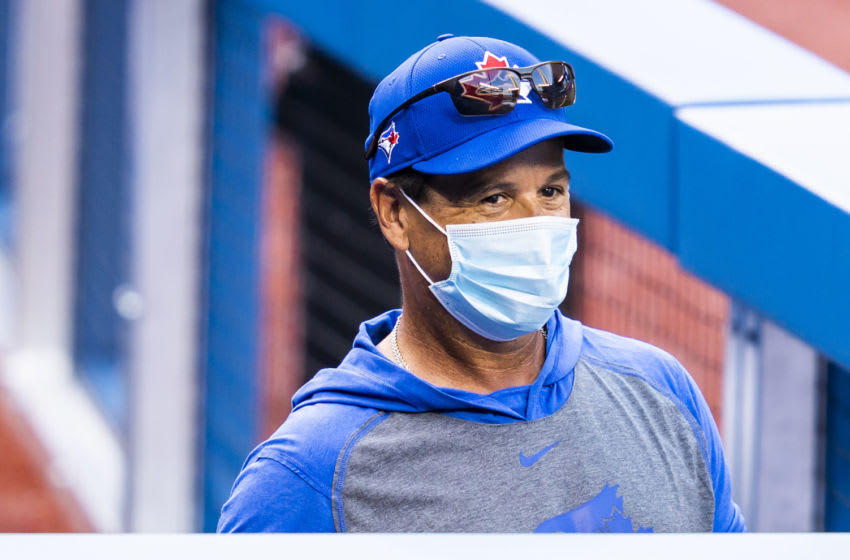 TORONTO, ON - JULY 09: Toronto Blue Jays manager Charlie Montoyo takes part in summer workouts at Rogers Centre on July 9, 2020 in Toronto, Canada. (Photo by Mark Blinch/Getty Images)