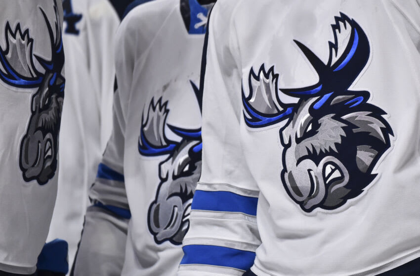 Manitoba Moose logo (Photo by Minas Panagiotakis/Getty Images)