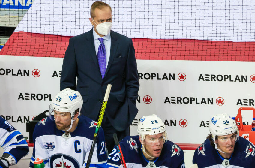 Winnipeg Jets, Paul Maurice. Mandatory Credit: Sergei Belski-USA TODAY Sports