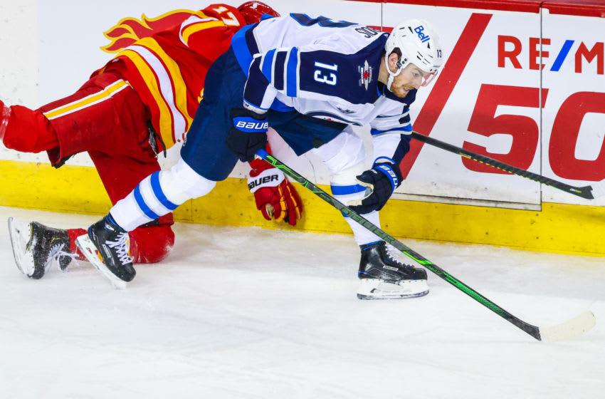 Winnipeg Jets, Pierre-Luc Dubois #13,(Mandatory Credit: Sergei Belski-USA TODAY Sports)
