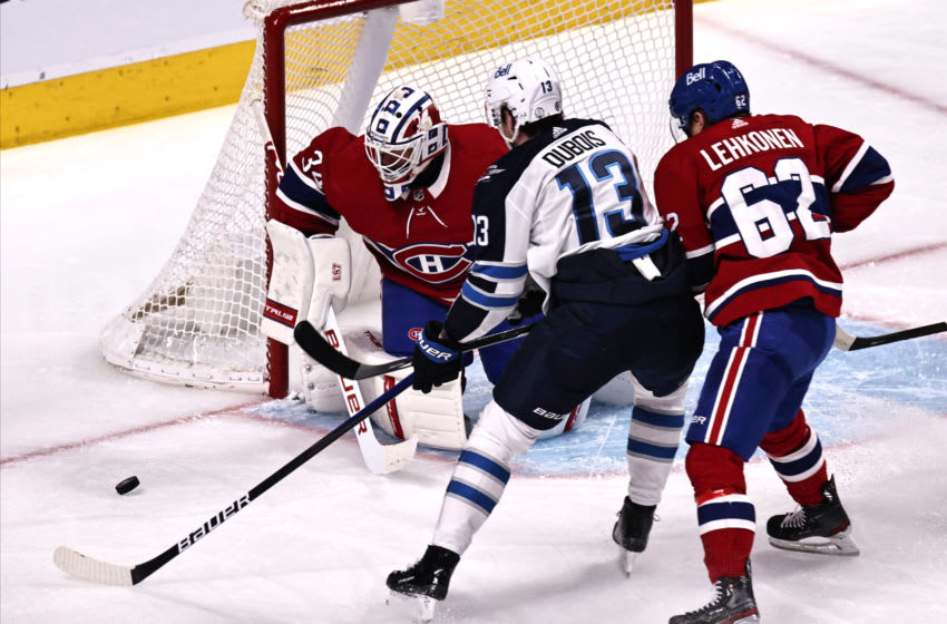 Winnipeg Jets, Pierre-Luc Dubois, #13, (Mandatory Credit: Jean-Yves Ahern-USA TODAY Sports)