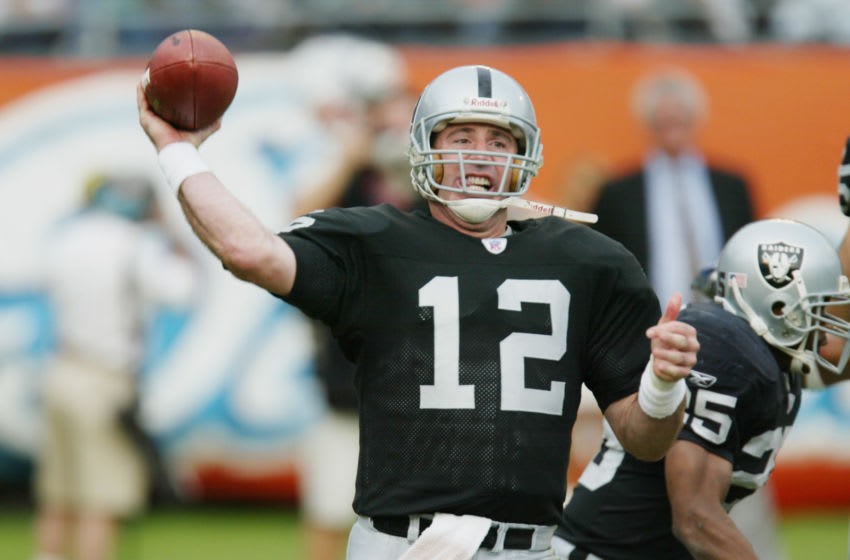 Rich Gannon, Oakland Raiders. (Photo By Eliot J. Schechter/Getty Images)