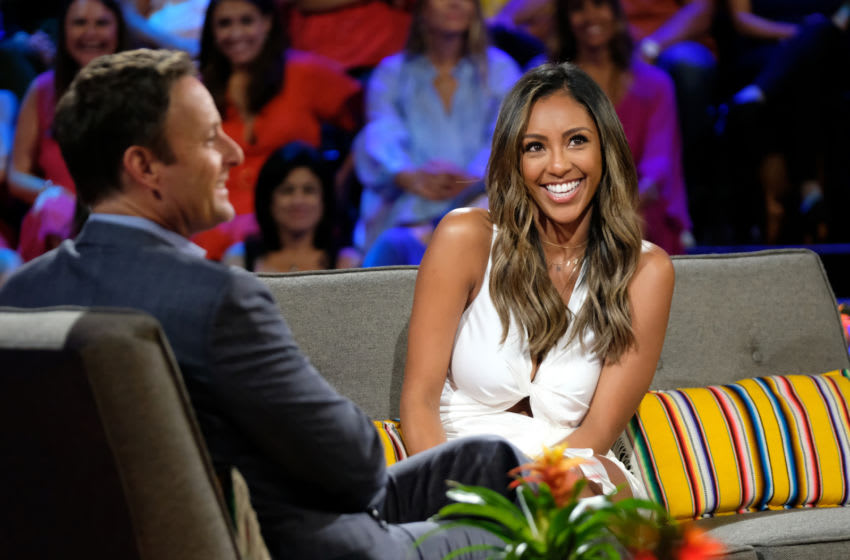 Tayshia Adams seems prime to take over the role of The Bachelorette in a shocking twist. (ABC/John Fleenor) TAYSHIA ADAMS