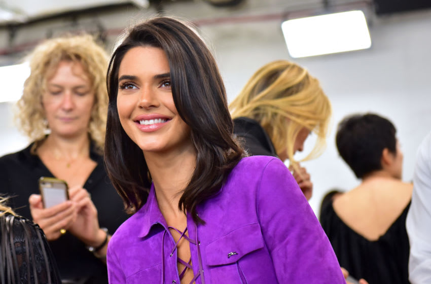 Kendall Jenner attends the Longchamp Spring/Summer 2019 Runway Show (Photo by Sean Zanni/Getty Images for Longchamp)