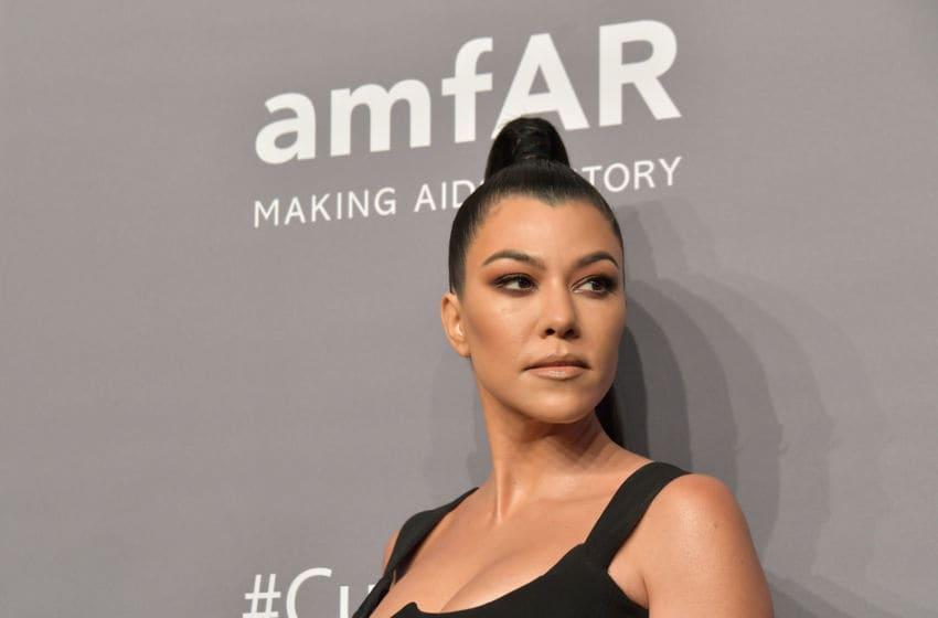 Kourtney Kardashian attends the amfAR New York Gala (Photo by Michael Loccisano/Wire Image)