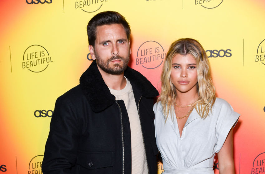 Scott Disick and Sofia Richie attend ASOS (Photo by Presley Ann/Getty Images)