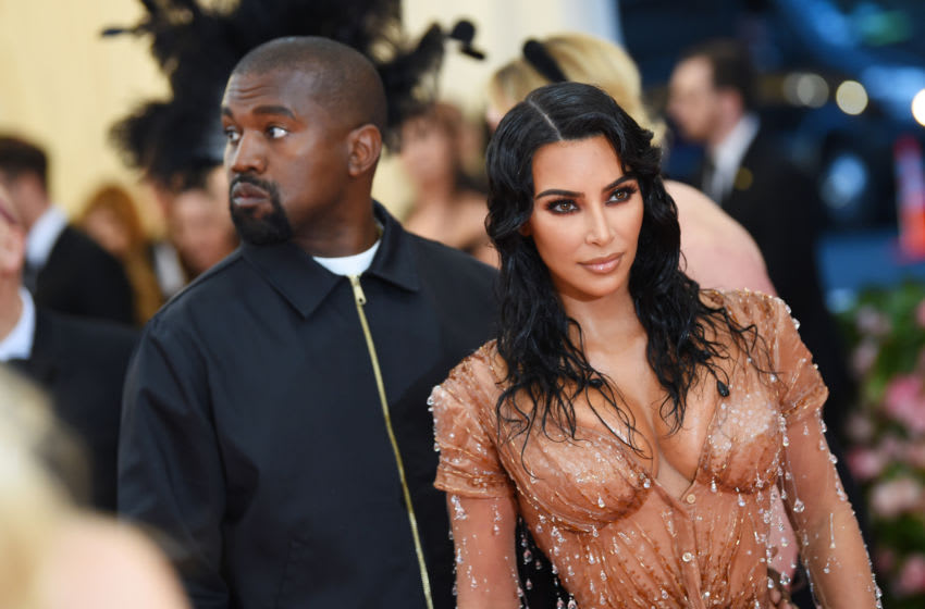 Kim Kardashian West and Kanye West (Photo by Dimitrios Kambouris/Getty Images for The Met Museum/Vogue)