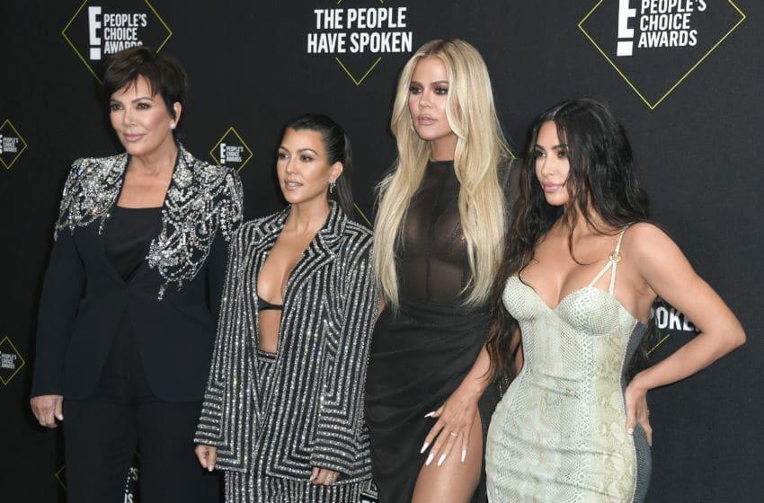 Kris Jenner, Kourtney Kardashian, Khloe Kardashian, and Kim Kardashian West (Photo by Frazer Harrison/Getty Images)