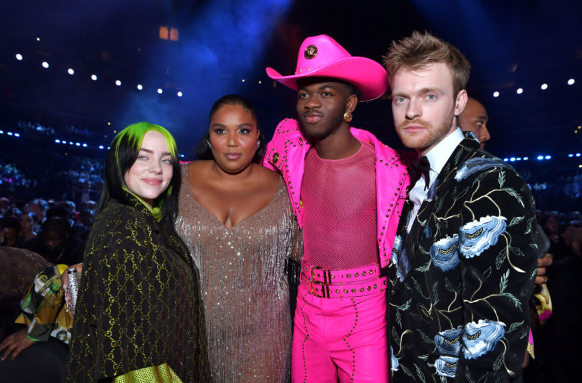 LOS ANGELES, CALIFORNIA - JANUARY 26: (L-R) Billie Eilish, Lizzo Lil Nas X, and Finneas O'Connell attend the 62nd Annual GRAMMY Awards at STAPLES Center on January 26, 2020 in Los Angeles, California. (Photo by Emma McIntyre/Getty Images for The Recording Academy)