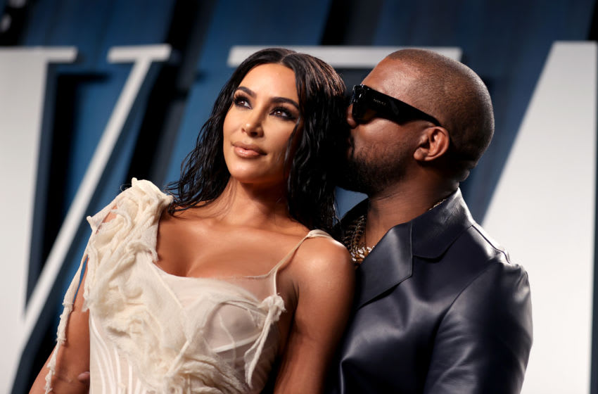 Kim Kardashian West and Kanye West attend the 2020 Vanity Fair Oscar Party (Photo by Rich Fury/VF20/Getty Images for Vanity Fair)