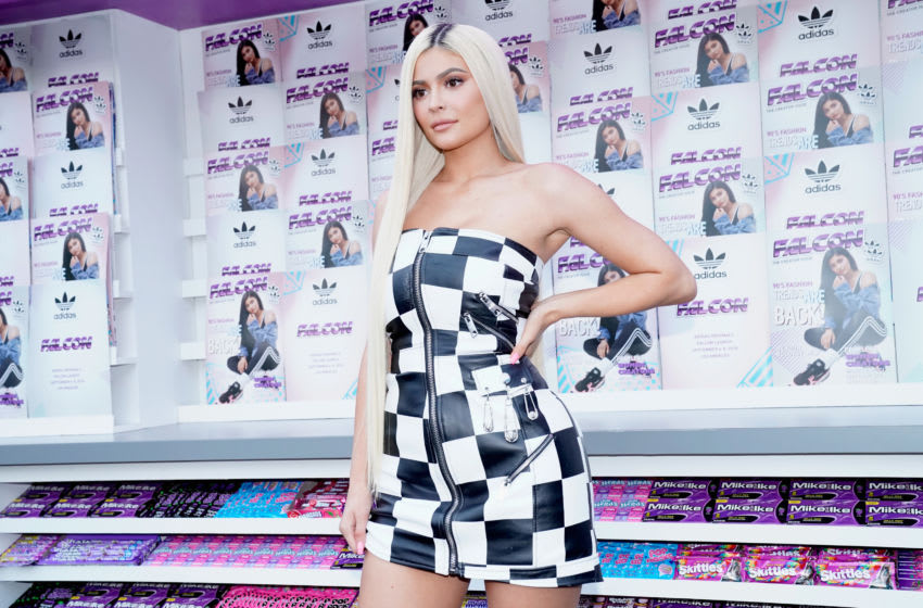 Kylie Jenner attends the Adidas Falcon FW18 Launch (Photo by Erik Voake/Getty Images for Adidas)