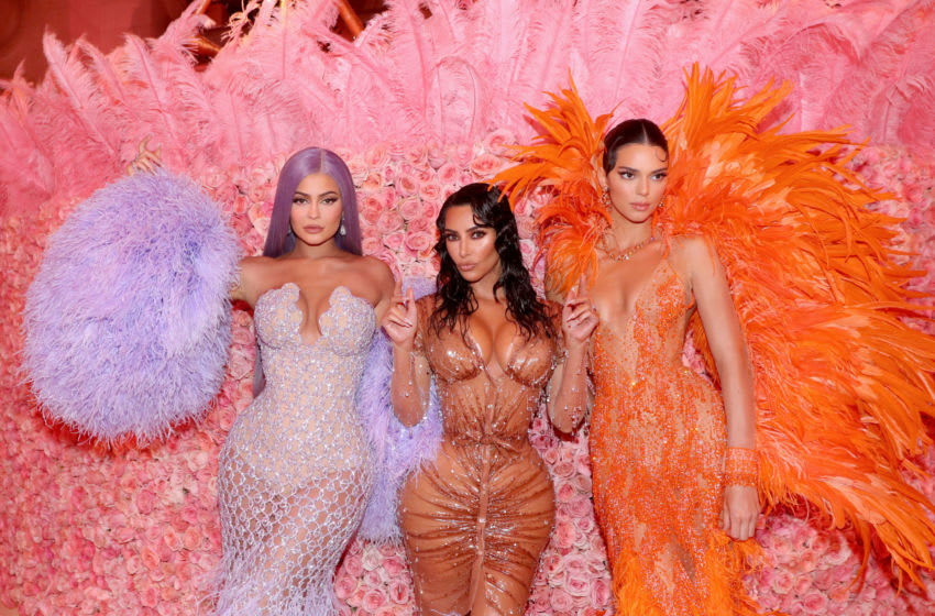 Sisters Kylie Jenner, Kim Kardashian and Kendall Jenner (Photo by Kevin Tachman/MG19/Getty Images for The Met Museum/Vogue)
