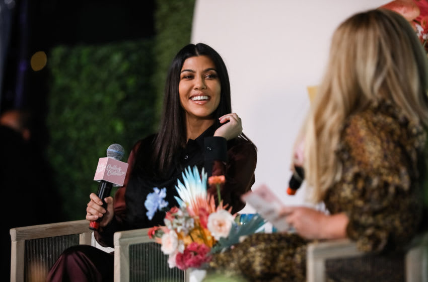 Kourtney Kardashian speaks onstage at the Create and Cultivate Conference at SVN West (Photo by Kelly Sullivan/Getty Images)