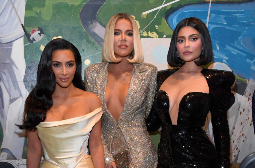 Keeping up with the Kardashians stars Kim Kardashian, Khloe Kardashian and Kylie Jenner (Photo by Kevin Mazur/Getty Images for Sean Combs)