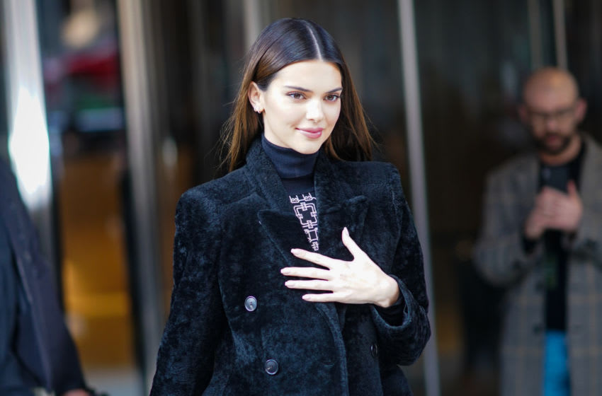 Kendall Jenner during New York Fashion Week (Photo by Edward Berthelot/Getty Images)