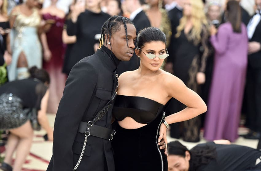 Travis Scott and Kylie Jenner attend the 2018 Met Gala (Photo by Theo Wargo/Getty Images for Huffington Post)