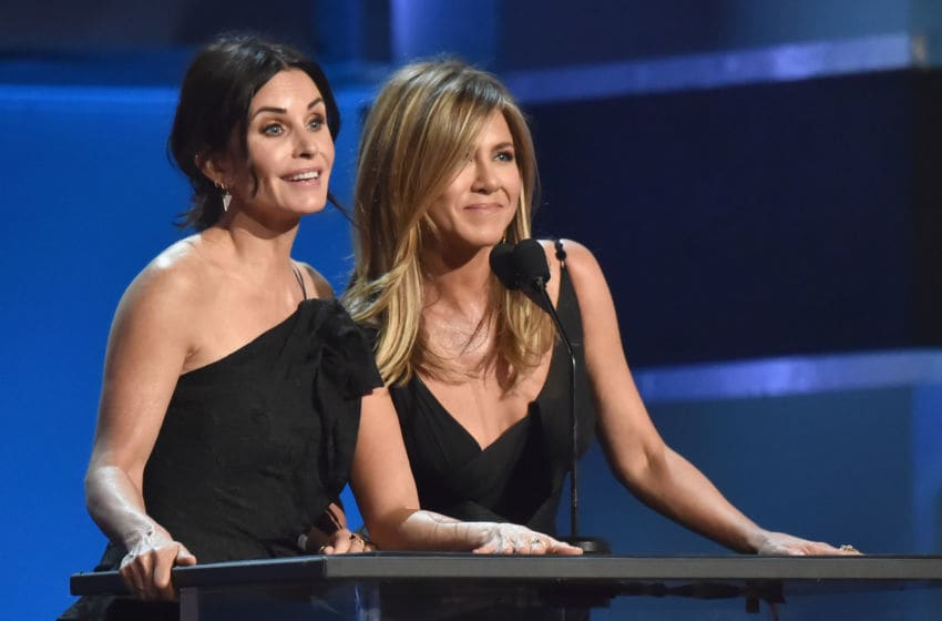 Courteney Cox and Jennifer Aniston (Photo by Kevin Mazur/Getty Images for Turner)