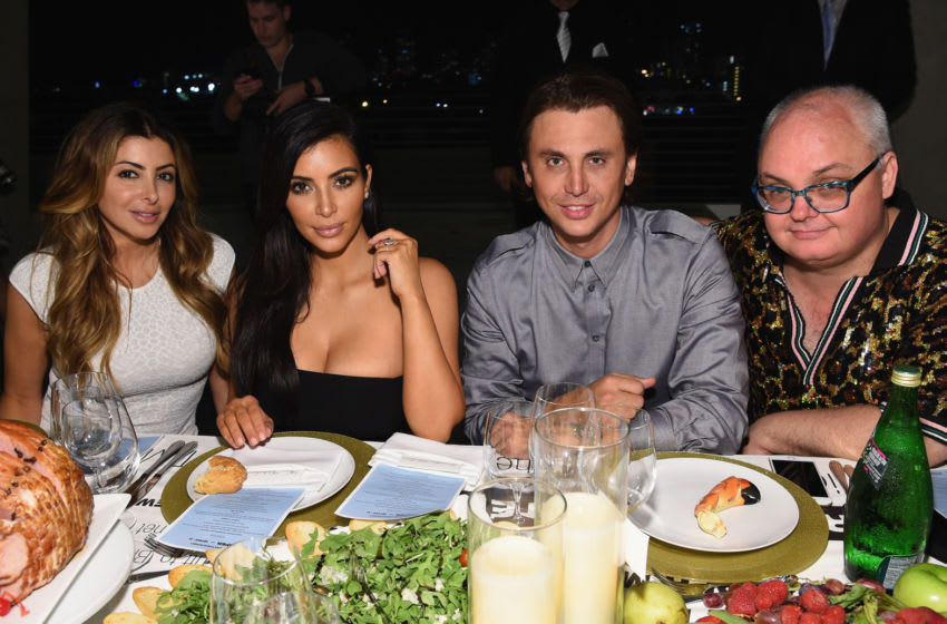 Larsa Pippen and Kim Kardashian, Jonathan Cheban and Mickey Boardman (Photo by Dimitrios Kambouris/Getty Images for Paper)