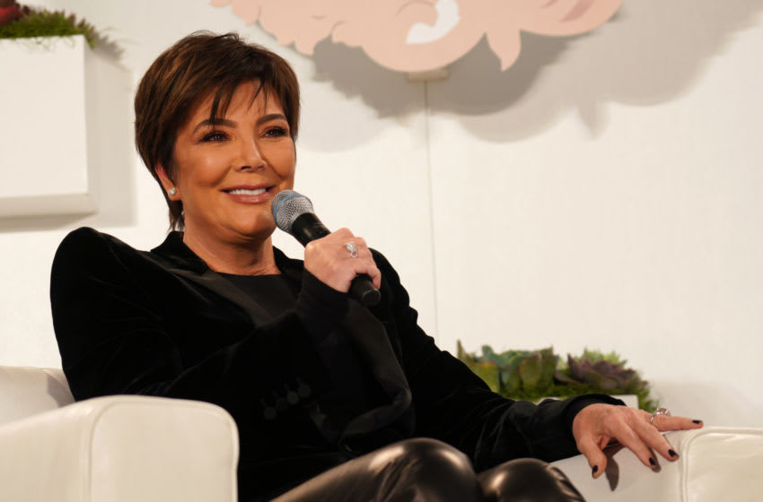 WEST HOLLYWOOD, CALIFORNIA - JANUARY 11: Kris Jenner speaks onstage during Nazarian Institute's ThinkBIG 2020 Conference featuring keynote speaker Kris Jenner at 1 Hotel West Hollywood on January 11, 2020 in West Hollywood, California. (Photo by JC Olivera/Getty Images)