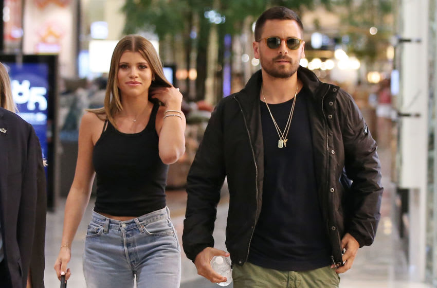MELBOURNE, AUSTRALIA - NOVEMBER 01: Scott Disick and and Sofia Richie make a store appearance at Windsor Smith at Chadstone Shopping Centre on November 1, 2018 in Melbourne, Australia. (Photo by Scott Barbour/Getty Images)
