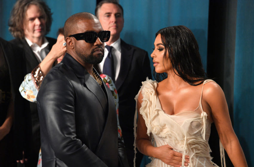 Kanye West and Kim Kardashian (Photo by George Pimentel/Getty Images)