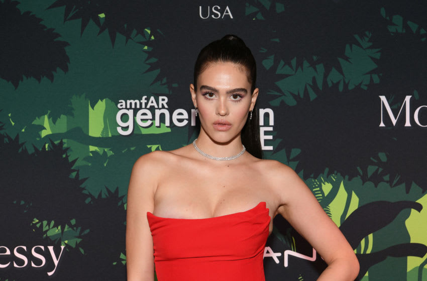NEW YORK, NEW YORK - DECEMBER 10: Model Amelia Gray Hamlin attends 2019 amfAR generationCURE Holiday Party at Gitano Jungle Room on December 10, 2019 in New York City. (Photo by Dia Dipasupil/amfAR/Getty Images)