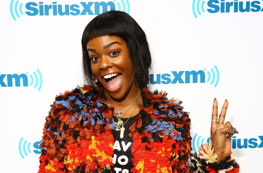 NEW YORK, NY - FEBRUARY 09: (EXCLUSIVE COVERAGE) Rapper Azealia Banks visits the SiriusXM Studios on February 9, 2015 in New York City. (Photo by Astrid Stawiarz/Getty Images)