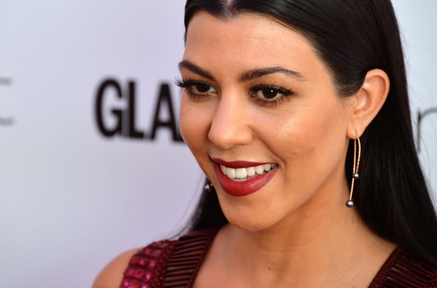 LONDON, ENGLAND - JUNE 07: Kourtney Kardashian attends the Glamour Women Of The Year Awards at Berkeley Square Gardens on June 7, 2016 in London, England. (Photo by Anthony Harvey/Getty Images)