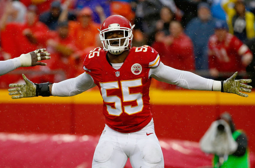 Dee Ford #55 of the Kansas City Chiefs (Photo by Jamie Squire/Getty Images)