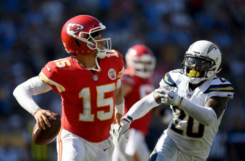Patrick Mahomes #15 of the Kansas City Chiefs (Photo by Harry How/Getty Images)