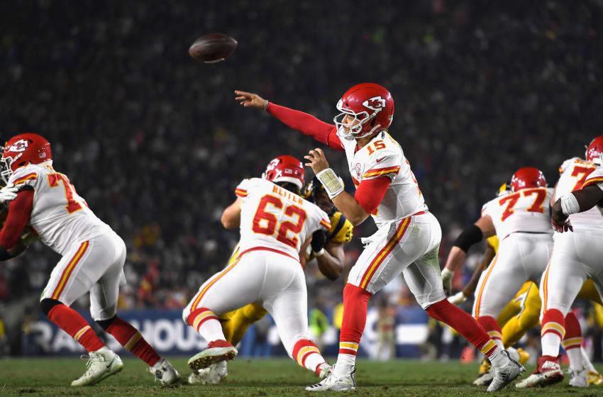 Quarterback Patrick Mahomes #15 of the Kansas City Chiefs (Photo by Kevork Djansezian/Getty Images)