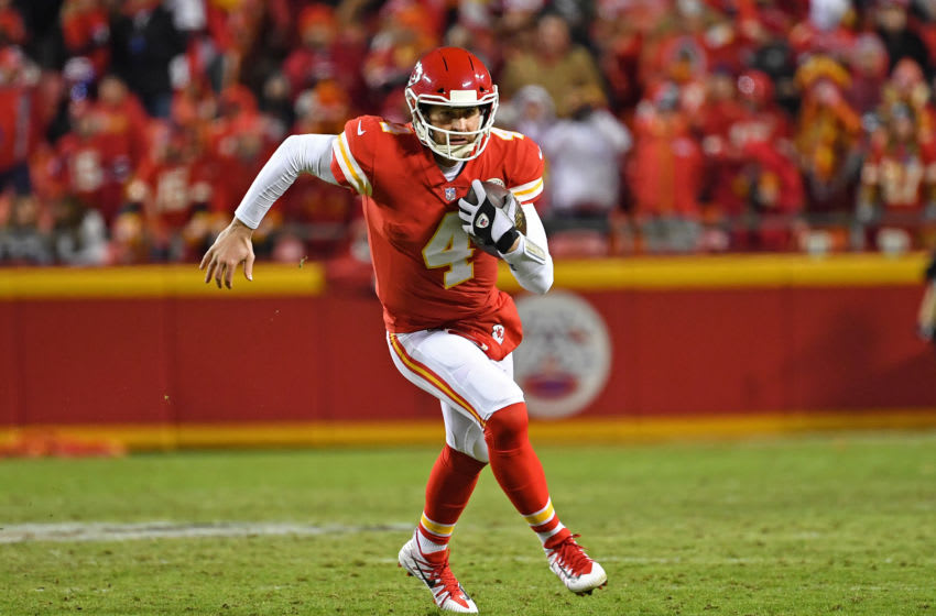 Quarterback Chad Henne #4 of the Kansas City Chiefs (Photo by Peter G. Aiken/Getty Images)