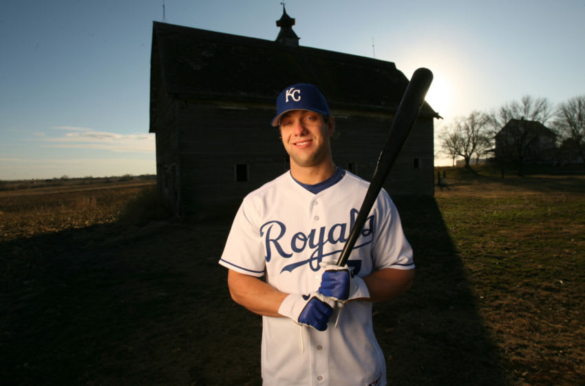 'Mags and TV Call for Price'! Kansas City Royals ALEX GORDON poses for a portrait on Dec. 4, 2006 in a field in his hometown of Lincoln, Neb. (Photo by Albert Dickson/Sporting News via Getty Images)