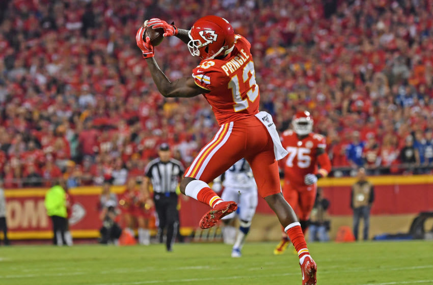 Wide receiver Byron Pringle #13 of the Kansas City Chiefs (Photo by Peter Aiken/Getty Images)