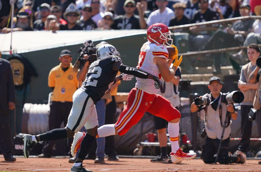 Travis Kelce #87 of the Kansas City Chiefs (Photo by Thearon W. Henderson/Getty Images)