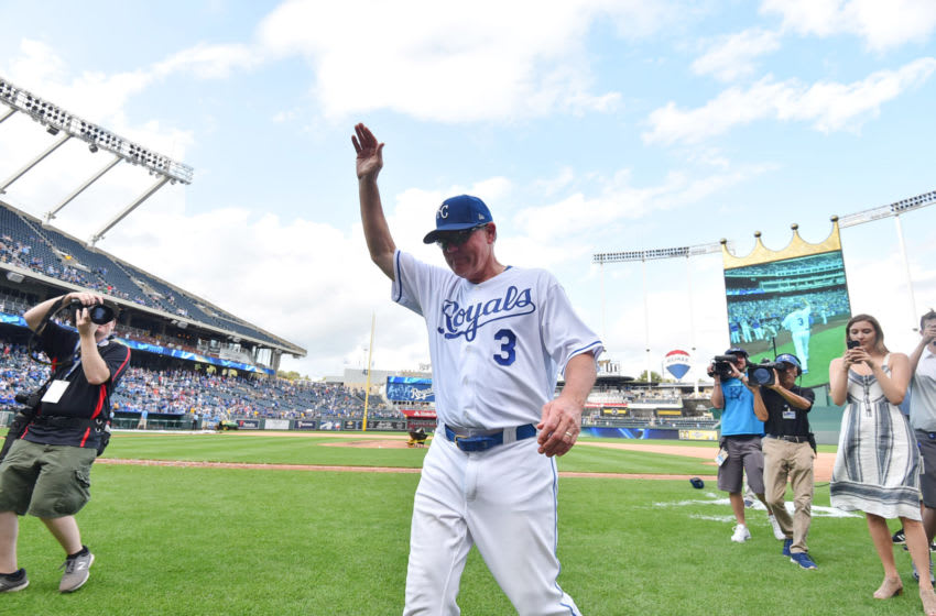 Manager Ned Yost #3 of the Kansas City Royals (Photo by Ed Zurga/Getty Images)