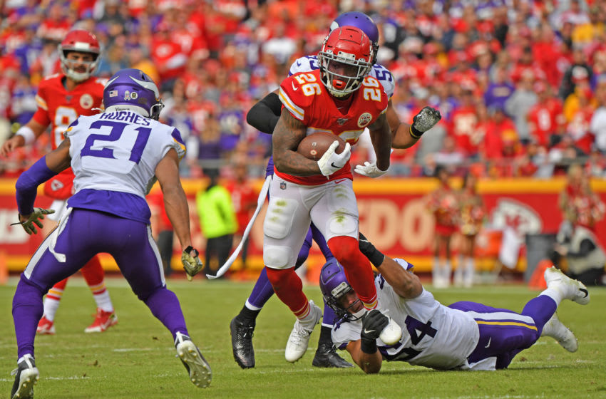 Running back Damien Williams #26 of the Kansas City Chiefs (Photo by Peter Aiken/Getty Images)