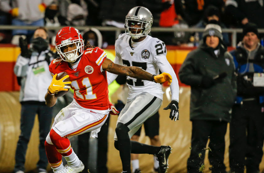 Demarcus Robinson #11 of the Kansas City Chiefs (Photo by David Eulitt/Getty Images)