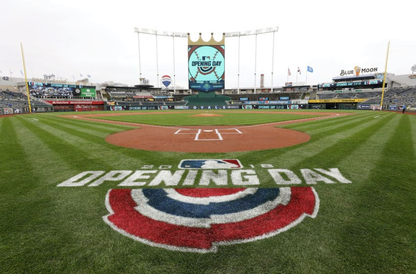 KANSAS CITY, MO - MARCH 29: A general view prior to the game between the Chicago White Sox and the Kansas City Royals on Opening Day at Kauffman Stadium on March 29, 2018 in Kansas City, Missouri. (Photo by Jamie Squire/Getty Images)