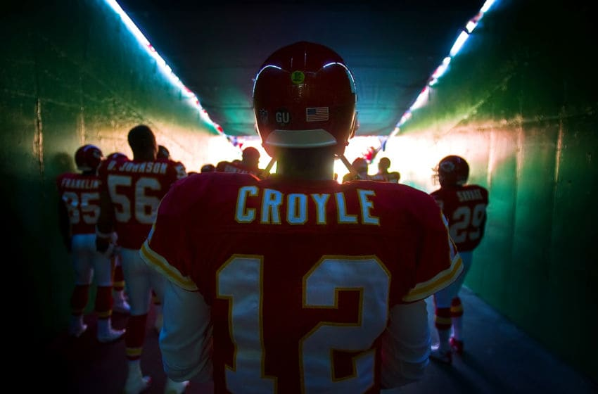 Kansas City Chiefs quarterback Brodie Croyle waits in the team tunnel for introductions before his first game back against the Tennessee Titans. Croyle was injured again in the second quarter. The Titans defeated the Chiefs, 34-10, at Arrowhead Stadium in Kansas City, Missouri, Sunday, on October 19, 2008. (Photo by David Eulitt/Kansas City Star/MCT via Getty Images)
