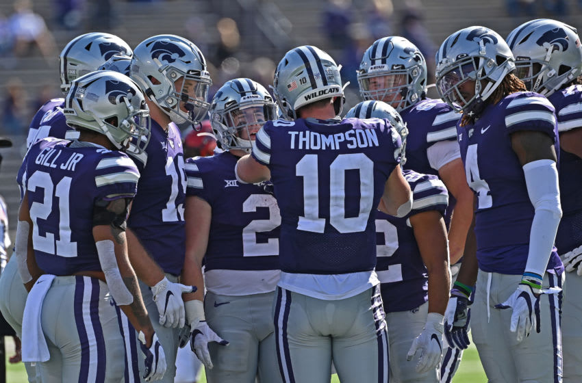 Quarterback Skylar Thompson #10 of the Kansas State Wildcats (Photo by Peter G. Aiken/Getty Images)