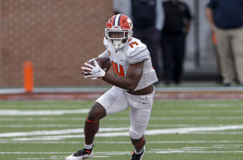 Wide Receiver Cornell Powell #14 from Clemson (Photo by Don Juan Moore/Getty Images)