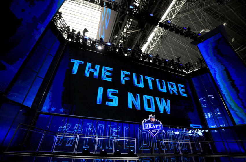 ARLINGTON, TX - APRIL 26: A view of the NFL Draft theater prior to the start of the first round of the 2018 NFL Draft at AT&T Stadium on April 26, 2018 in Arlington, Texas. (Photo by Tom Pennington/Getty Images)
